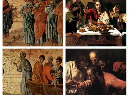 Le apparizioni di Gesù secondo Caravaggio e Duccio di Buoninsegna